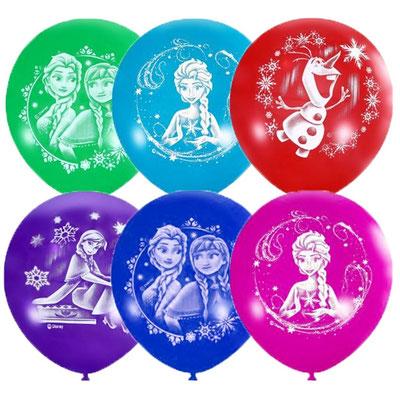 Воздушные шары Латекс Оксидентл с рисунком Холодное Сердце, пачка 25 шт. размер 12 дюймов #6046002