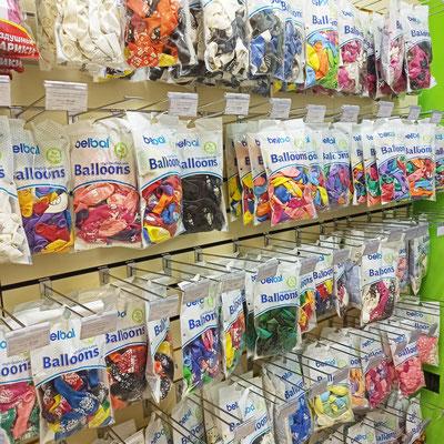 Воздушные шары из латекса, с рисунком, для надувания гелием в магазине Волшебник на Сахарова
