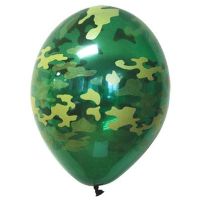 Воздушные шары на День Защитника отечества с рисунком Камуфляж, размер 14 дюймов #1103-0703 купить в Казани