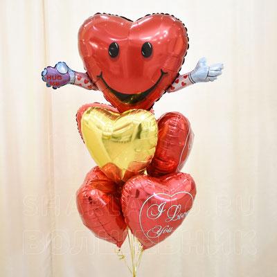 Букет шаров с гелием на тему Романтика, Любовь - купить в Казани