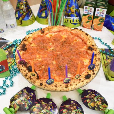 Праздничная пицца на день рождения в стиле Черепашки Ниндзя - купить в Казани