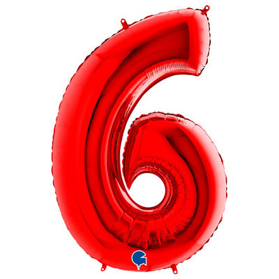 Фигура Grabo цифра 6/9 красный, размеры 61*90 см, купить в Казани