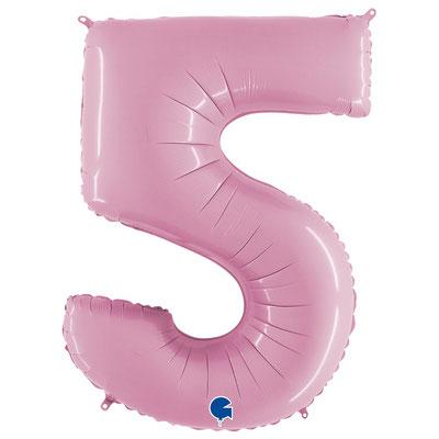 Фигура Grabo цифра 5 розовый, размеры 55*90 см, купить в Казани