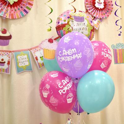 Воздушные шары на детский день рождения в стиле Сладкий праздник