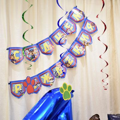 Гирлянда С днем рождения в стиле Щенячий патруль - купить в Казани