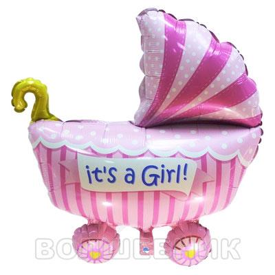 Фигура Flexmetal Коляска для девочки розовый, размеры: 60*65 см, купить в Казани