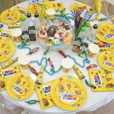 Сервировка праздничного стола на тему Три кота - купить в Казани