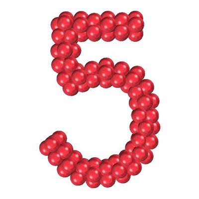 Цифра из воздушных шаров