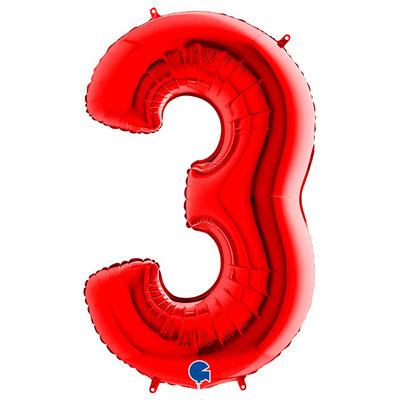 Фигура Grabo цифра 3 красный, размеры 56*94 см, купить в Казани