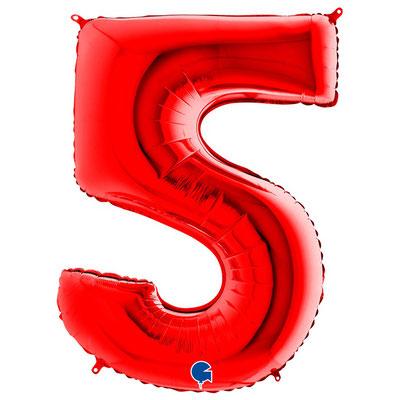 Фигура Grabo цифра 5 красный, размеры 55*90 см, купить в Казани