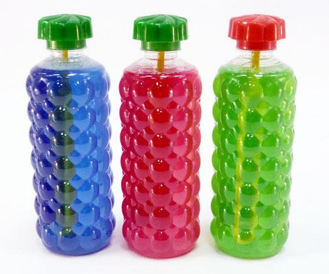 флаконы объемом 0,5 л с раствором для мыльных пузырей