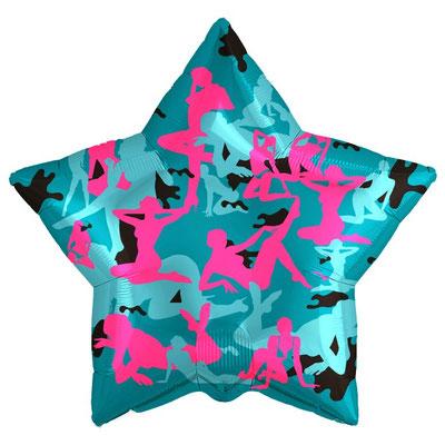 Воздушный шар на День Защитника отечества, размер 18 дюймов, Камуфляж девушки #753439 купить в Казани