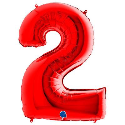 Фигура Grabo цифра 2 красный, размеры 60*87 см, купить в Казани