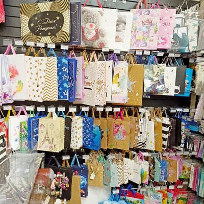 Пакеты и сумки для упаковки подарков в магазине Волшебник на Копылова