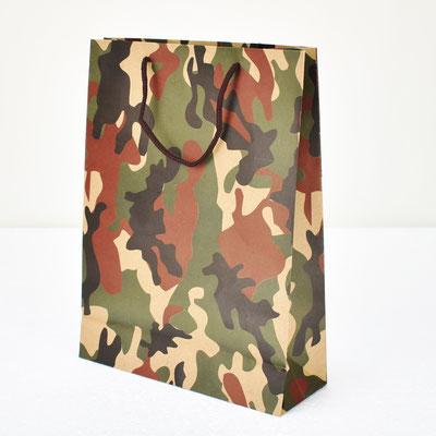 Пакет для подарка крафт Камуфляж 31,5*23,5*8,5 см #1705103 - купить в Казани