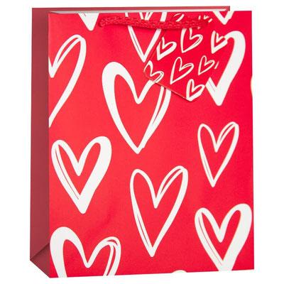 Пакет подарочный на 14 февраля, с рисунком Множество сердец, Красный арт. KR-H2354L1 купить в Казани