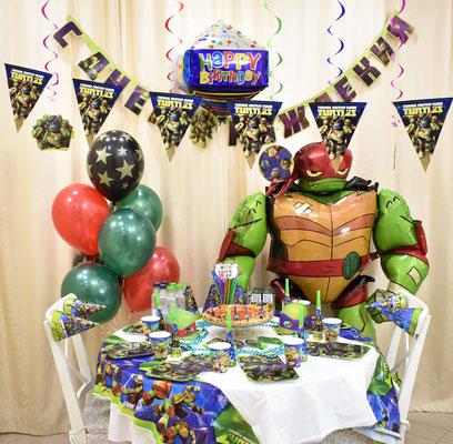 Оформление дня рождения в стиле Черепашки Ниндзя - купить в Казани