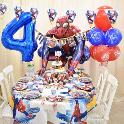 Оформление праздника в стиле Человек Паук - купить в Казани