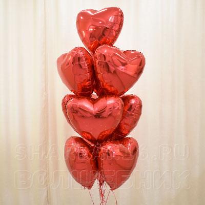 Букет гелиевых шаров на тему Романтика, Любовь - купить в Казани