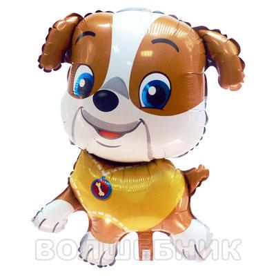 Фигура Flexmetal Бульдог жёлтый, размеры: 44*60 см, купить в Казани