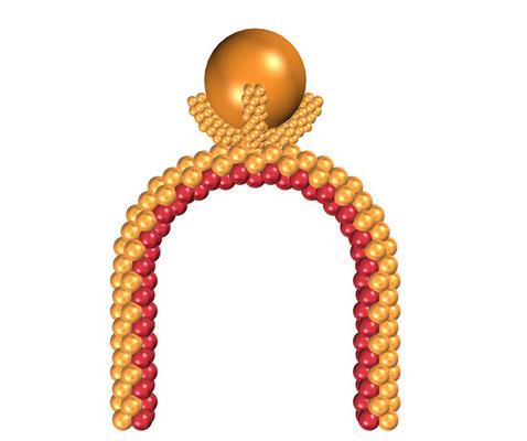 Арка каркасная из воздушных шаров