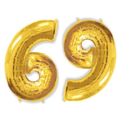 Фигура Flexmetal цифра 6/9 золото, размеры 60*90 см, купить в Казани