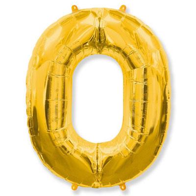 Фигура Flexmetal цифра 0 золото, размеры 66*85 см, купить в Казани