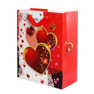 Пакет подарочный на День Валентина, с рисунком Пламенные чувства арт. 1361-4L купить в Казани