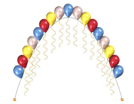Арка гелиевая из воздушных шаров