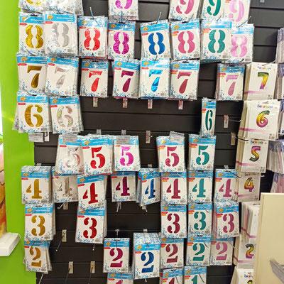 Фольгированные цифры для надувания гелием в магазине Волшебник на Восстания