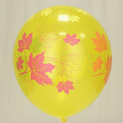 """Воздушные шары с рисунком """"Осенние листья"""" купить в Казани"""