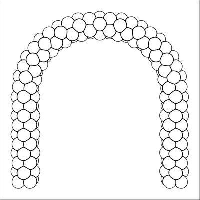 арки из воздушных шаров, собранные на каркасе