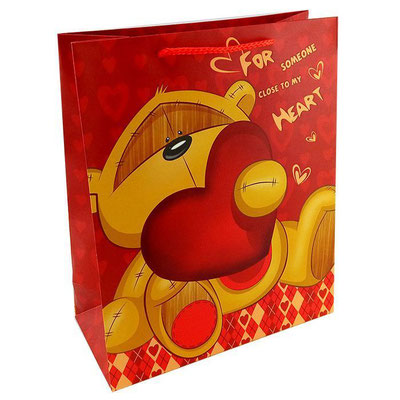 Пакет подарочный на День всех влюблённых, с рисунком Для близкого моему сердцу арт. 1362-3L купить в Казани