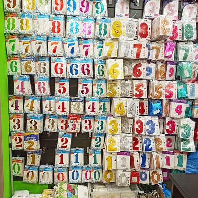 Фольгированные цифры для надувания гелием в магазине Волшебник на Ямашева