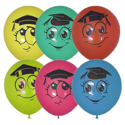 Воздушные шары на выпускной с рисунком Выпускник Улыбки, размер 12 дюймов #6056131 купить в Казани