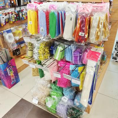 Банты, наполнители для коробок для упаковки подарков в магазине Волшебник на Ямашева