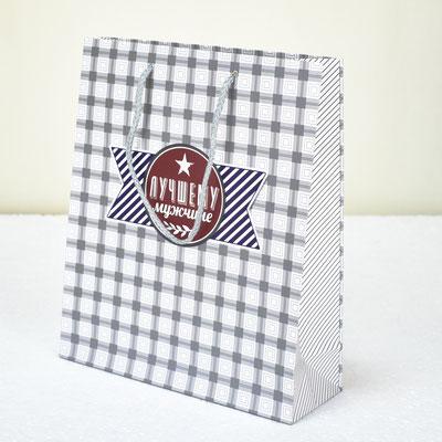 Пакет для подарка Стильному мужчине 23*27*8 см #1502990 - купить в Казани
