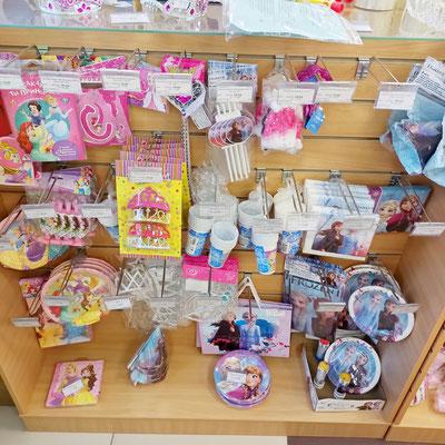 Товары для праздника в магазине Волшебник на Ямашева - коллекции Принцессы Дисней и Холодное сердце