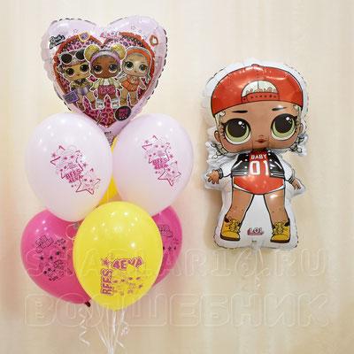 Воздушные шары с гелием - Куклы LOL - купить в Казани