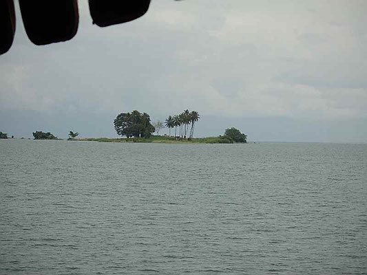 まるでひょうたん島が浮いてるよう