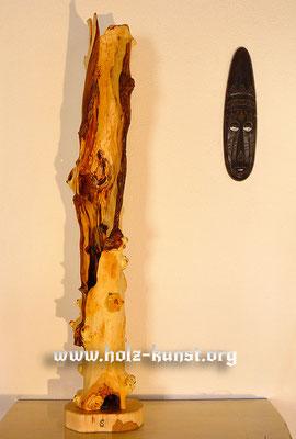 Holz Kunst - Stehlampe - Apfel