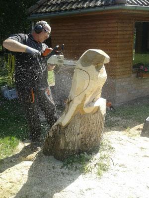 Holzkunst - Christian Stange - Kettensägenschnitzen
