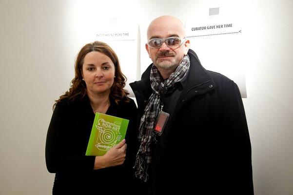 Pavla Jarc (Kulturni dom Nova Gorica) and curator of Pixxelpoint 2014: Igor Štromajer