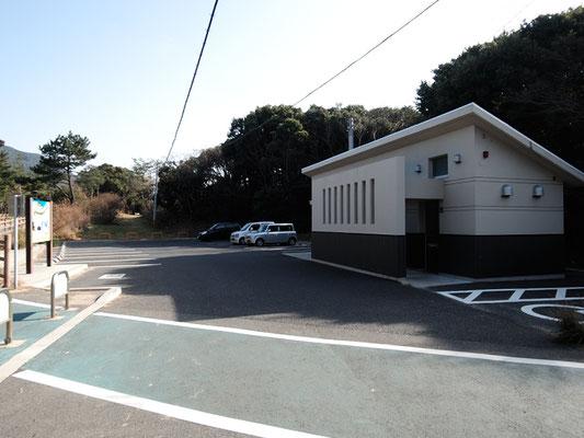 ひびき灘サイクリングロード(遠賀宗像自転車道線)- 名勝さつき松原の休憩所