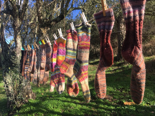 Wollsocken, Winter in Estrafego