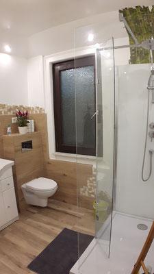 moderne Dusche mit Regenbrause
