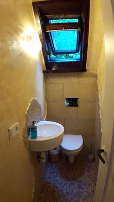 """zusätzliches Gemeinschafts-WC für die beiden Zimmer """"Al Hambra"""" und """"Kirschblüte"""""""