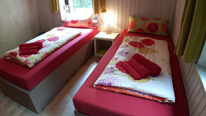 Die Ausrichtung der Betten kann variieren