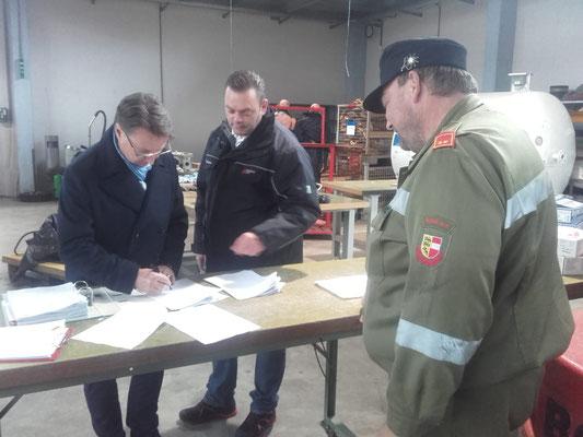 Übernahme in Klagenfurt durch den Bürgermeister