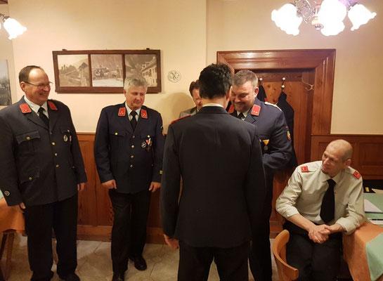 Ehrung von HFM Stugger Helmut für 40 Jahre im Dienste der Feuerwehr Radlach